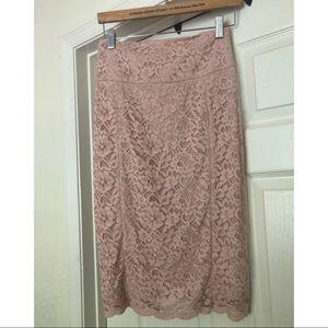 Express lace midi skirt. Size 2.